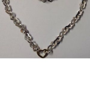Tiffany Elsa Peretti necklace and bracelet set.